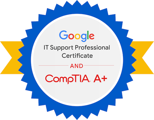 Google's IT Support Professional Certificate